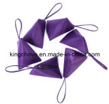 Satin Purple Fashion Cosmetic Bag with Special Shape and Short Handle (KCC02)