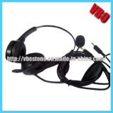 Telephone Headset with Noise Cancelling Microphone for PC