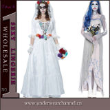 Theatrical Sexy Zombie Bride Corpse Cosplay Adult Halloween Costume (TENN89122)