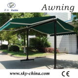 Hot Sale Free Standing Poly Fabric Retractable Two Side Awnings