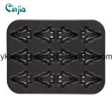 Carbon Steel Non-Stick 12cup Muffin Pan with Christmas Tree Pattern