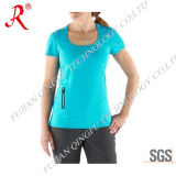 Women′s Sun Protection and Dri Fit Tee Shirt (QF-1849)