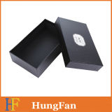 Black Luxury Design with Hot Stamping Logo Gift Packaging Paper Box