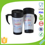 Promotional Colorful Cute Double Wall Plastic Mug with Handle Dn-122b