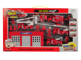 Hot Sale Pull Back Kid Fire Engine for Kids up 3 Ages