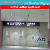 Airport Bus Stop Shopping Mall Hanging Acrylic Sign Light Box