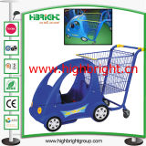 Supermarket Plastic Children Shopping Cart for Shopping Mall