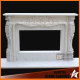 White Marble Fance Sculpture Stone Carving Fireplace Surround