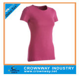Womens Blank 100% Microfiber Polyester Running T-Shirt for Wholesale