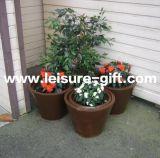 Fo-9703 Conical Galvanize Zinc Flower Pots