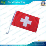 Swiss/Switzerland Car Flag, 75D Fabric with 43cm Pole (J-NF08F01009)