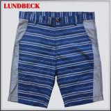 Leisure Stripe Cotton Shorts for Men Summer Wear