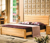 Solid Wooden Bed Modern Double Beds (M-X2246)