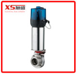 Stainless Steel Pneumatic Butterfly Valve with Intelligent Head