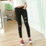 Factory OEM Lady′s Blue Jeans Denim Fashion Cotton Jeans