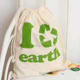 Topfly Promotional Gift Printing Logos Cotton Fabric Drawstring Bag