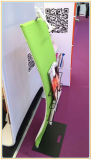 Curved iPad Banner Stand with Magazine Display Rack