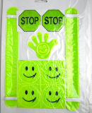 PVC Reflective Smiling Faces Safety Customized Reflective Sticker
