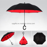 Customized C Handle Double Layer Inverted/Reverse Umbrella