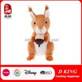 Cute Kids Toy Sitting Forest Animal Toy Stuffed Plush Squirrel