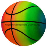 High Quality Rainbow Basketball PVC Inflate Toy Ball