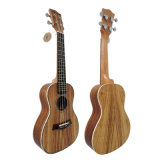 Round Back 24 Inch Concert Hawaii Koa Ukulele Wooden Guitar