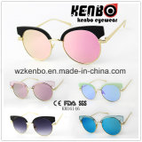 Metal Round Frame with Plastic Eyebrow Km16146 Fashion Colourful Sunglasses