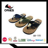Classic Textile Upper with High Quality Wood EVA Sole Man Beach & Outdoor Slipper