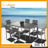 Hotel Garden New Design All Weather Poly Wood Dining Table and Chairs Outdoor Furniture