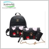 Genuine Leather Splicing Portable PU Girls Leather Bag