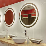 Customize Size Hotel Vanity Beveled LED Lighted Frameless Wall Mirrors