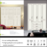 2015 Modern White Swing Door PVC Wardrobe