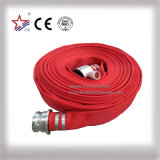 Red PVC Rubber Mixed Lining Fire Hose with BS Hose Coupling