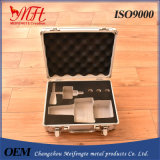 Silver Aluminum Box with The Brushed Metal Panel