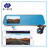 FHD Rearview Mirror with Dual Lens WiFi Video Recorder