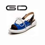 Gdshoe 2016 Hot Sell Flat Sandals Lace up Sandals New Designs Flat Sandals