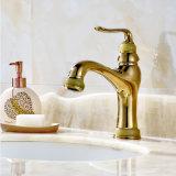 Basin Faucet Gold Copper Natural Jade Bathroom Faucet