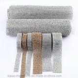 Self Cutting Hot Fix Adhesive Clear Glass Rhinestone Mesh Net
