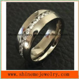 Shineme Jewelry Popular High Quality Zircon Titanium Jewellry Ring (TR1870)