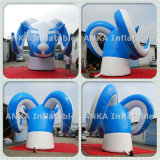 Giant 3D Model Inflatable Cartoon Rooftop Goat