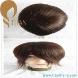 Remy Human Hair System Mono Base Men′s Toupee