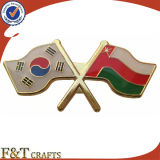 Customize World National Friendship Cross Metal Flag Pin (FTFP1625A)