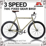 700c Inner 3 Speed Fixed Gear Bicycle (ADS-7101)