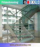 High Quality Laminated Tempered Glass Treads Straight Stairs