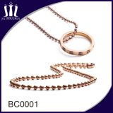 High Quality Metal Curb Rose Gold Iron Ball Chain Spool