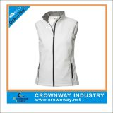 Men′s White Sports Softshell Vest/Coat with Mixed Size