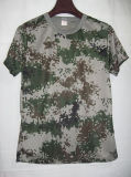 Customize 100% Polyester Dry Fit Man Camo T-Shirt Printing
