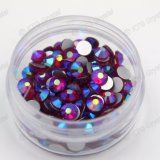 Siam Ab Strass Glass Rhinestone Diamond, Flat Back Crystal Ab Rhinestones for Nail Art