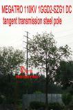 Megatro 110kv 1ggd2-Szg1 DC Tangent Transmission Steel Pole
