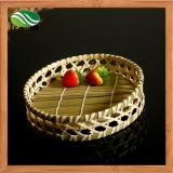 Round Bamboo Bread Basket Fruits Bowl Vegetables Basket